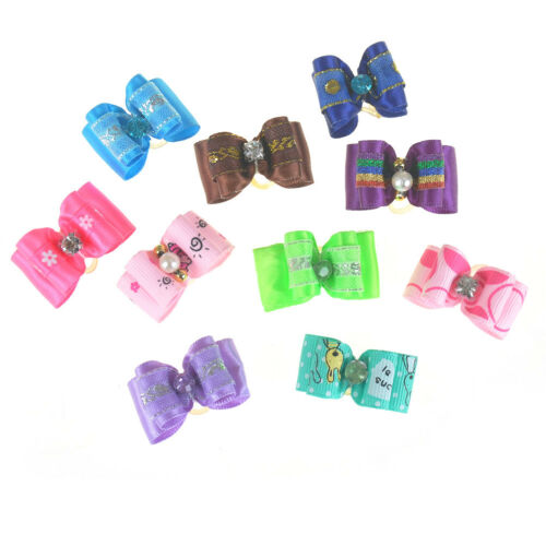 10Pcs Cute Dog Accessories Pet Hair Bows Different Styles And Colors SupplyWTUS