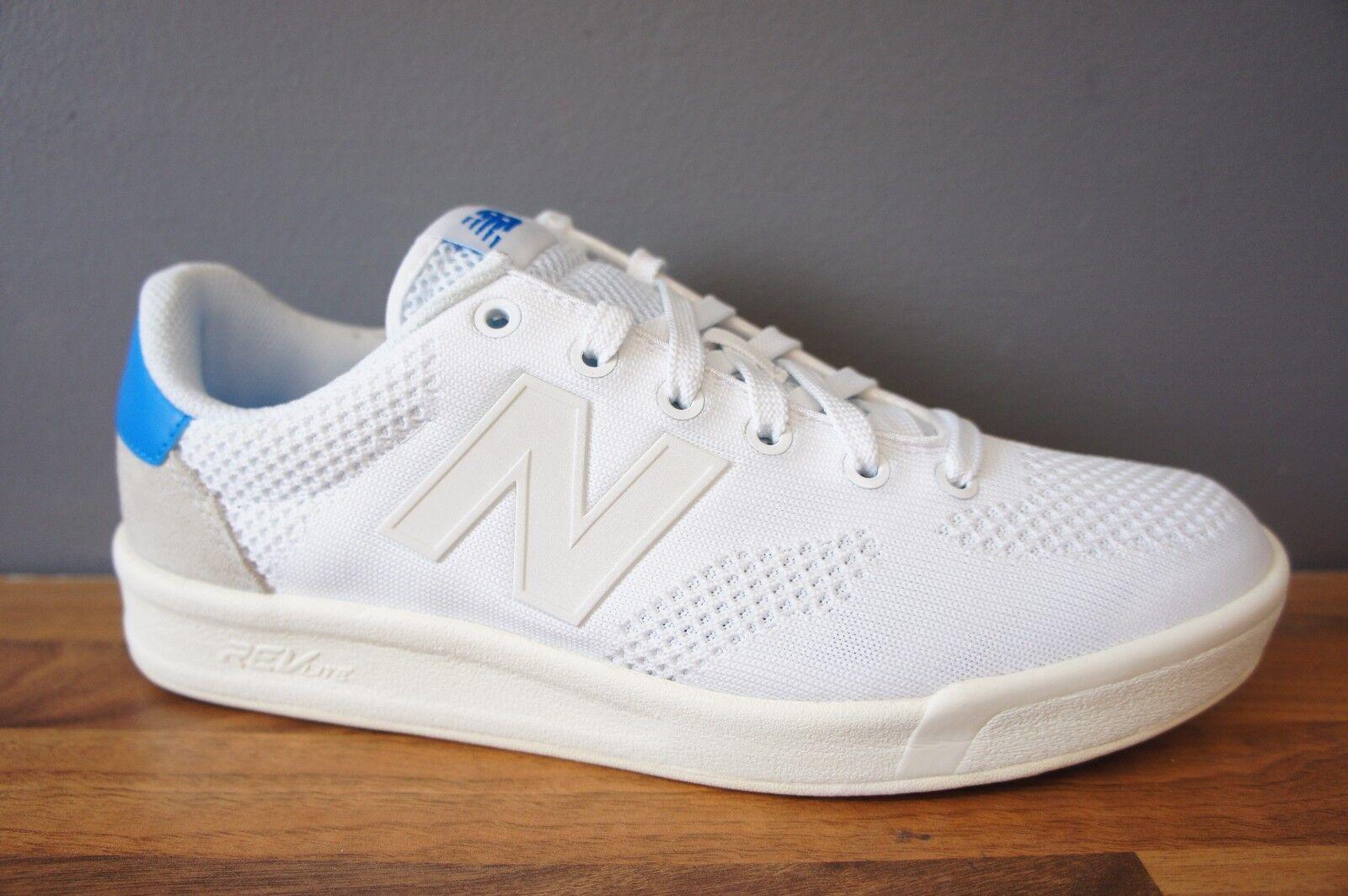 New Balance Mens Size 7.5 UK White bluee Classic Mesh Trainers BNWB BOXED NEW