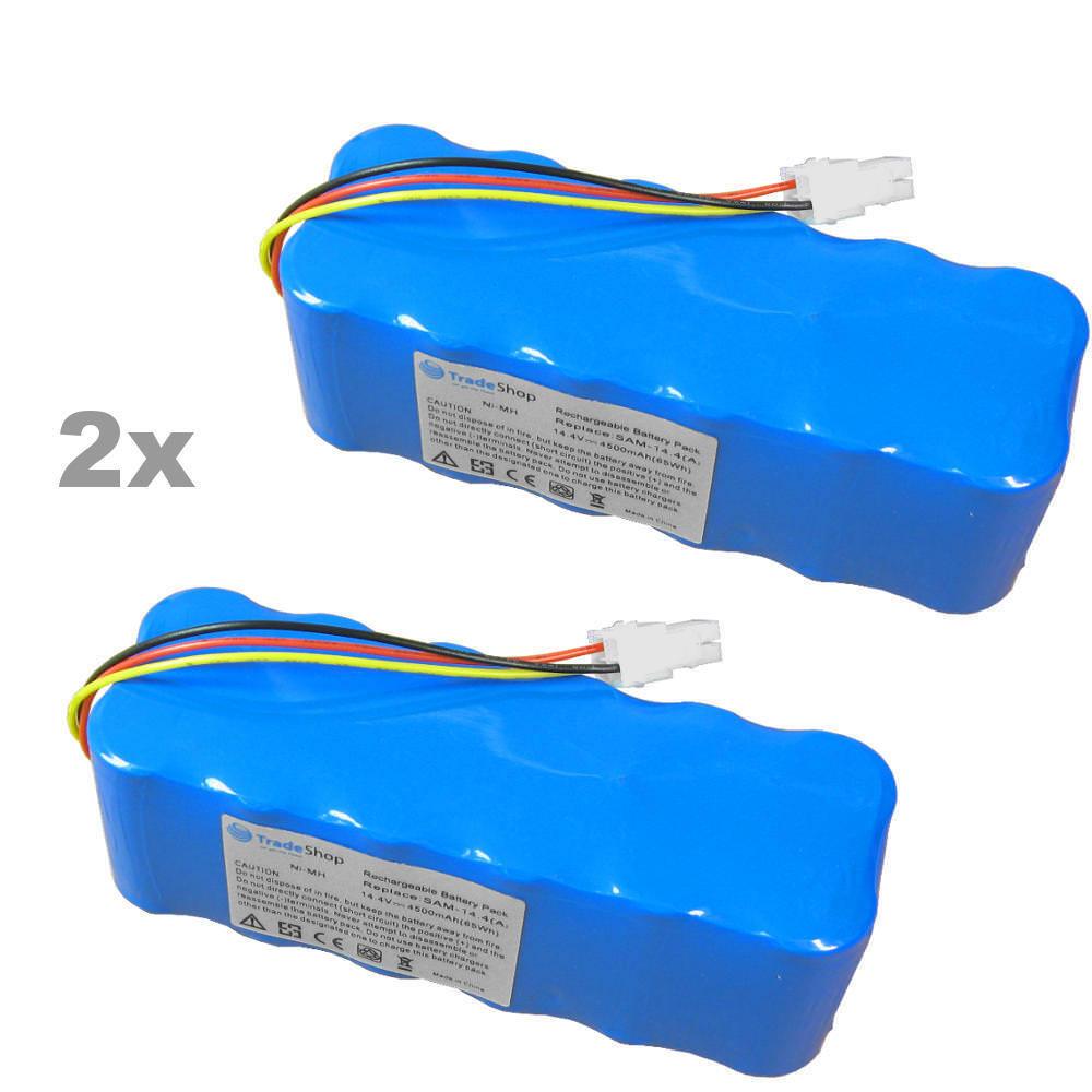 2x Akku 14,4V 4500mAh für Samsung Navibot Airfresh SR8F30 SR8F31 SR8F40 SR8F51