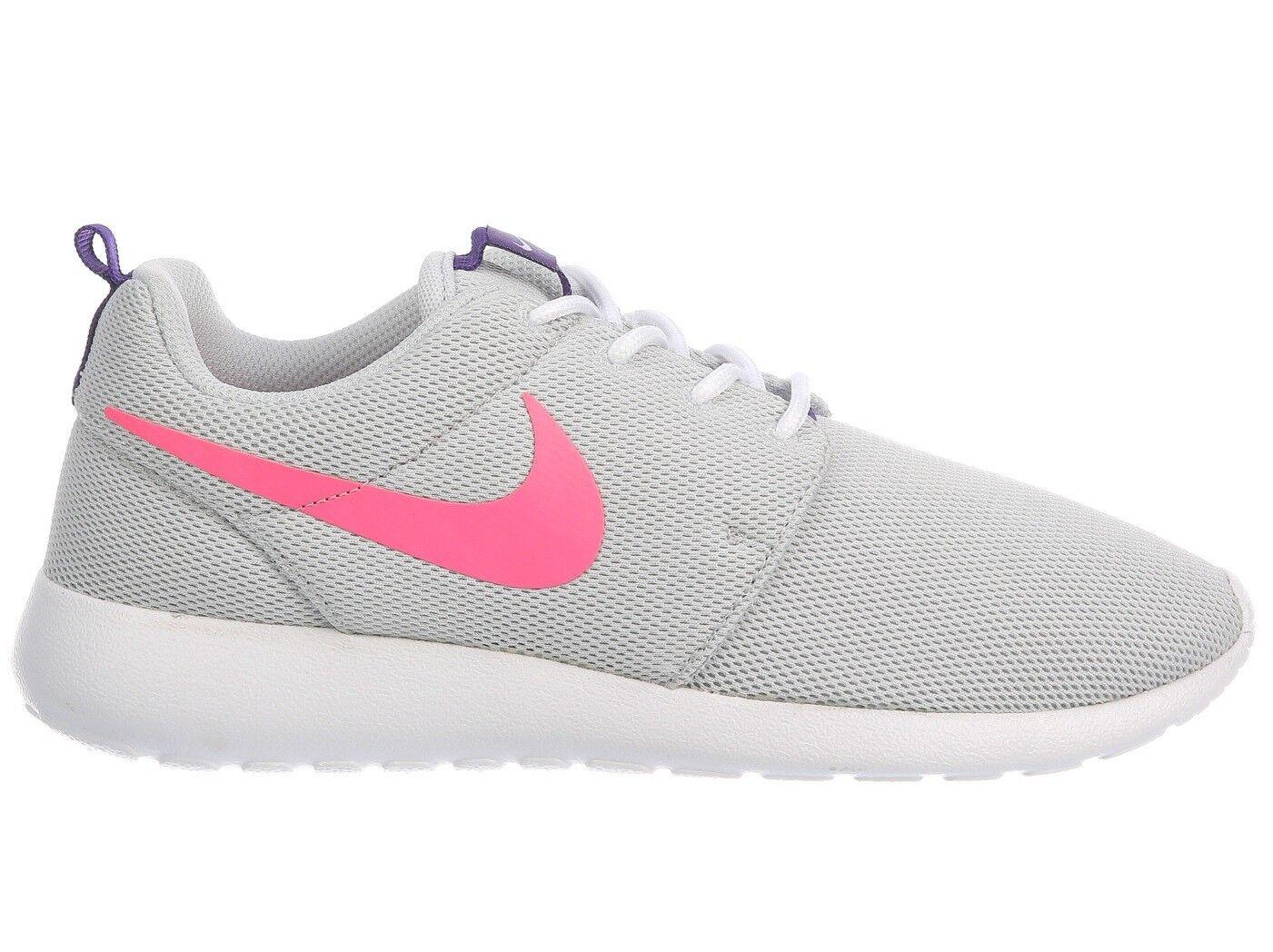 Nike Roshe One Womens 844994-007 Platinum Pink Purple Running Shoes Size 6.5
