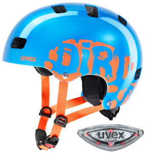uvex kid 3 led children 39 s bike helmet blue orange scooter inline skate ebay. Black Bedroom Furniture Sets. Home Design Ideas