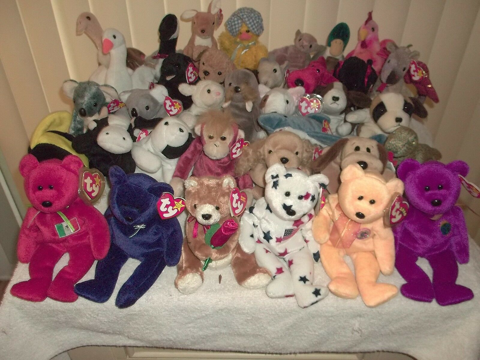 Ty Beanie Babies Babies Babies All Different 35 Count Lot Retired 7f4061
