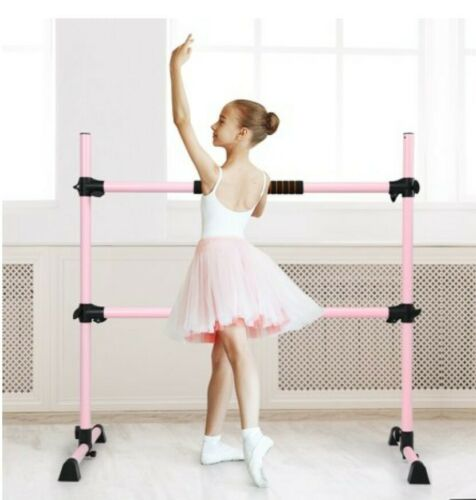Details about  /Costway 4ft Portable Double Freestanding Ballet Barre 29/'/' Base Height Pink