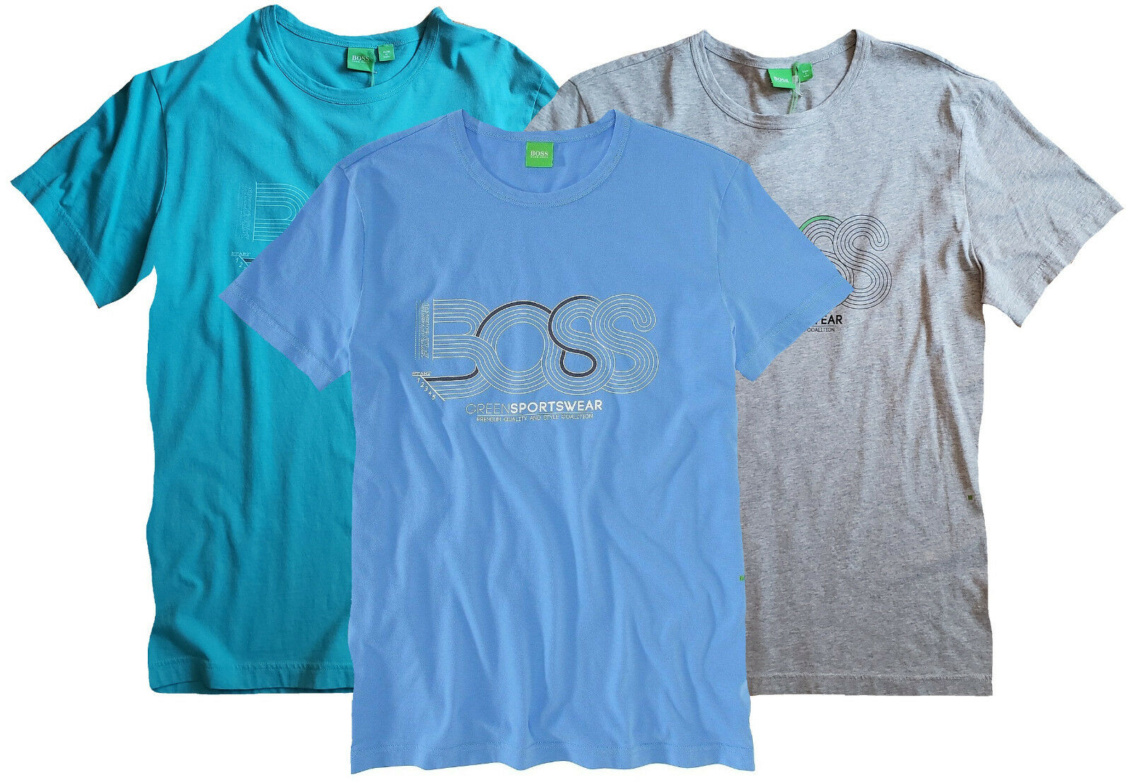 e3ac80e24 NWT Hugo Boss Green Label LOGO Tee Modern (Slim) Fit T-Shirt with Printed  Design oneedg3833-T-Shirts