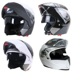 Modular-Helmet-Flip-Up-Motorcycle-Helmet-Full-Face-Dual-Visor-Motocross-Racing