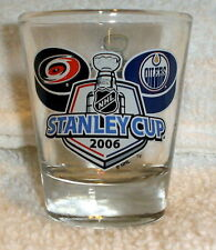 CAROLINA HURRICANES EDMONTON OILERS 2006 STANLEY CUP FINALS SHOT GLASS
