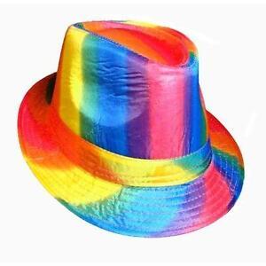 abea0711a6f70a Image is loading Gay-Pride-Fedora-Hat-Rainbow-LGBTQ