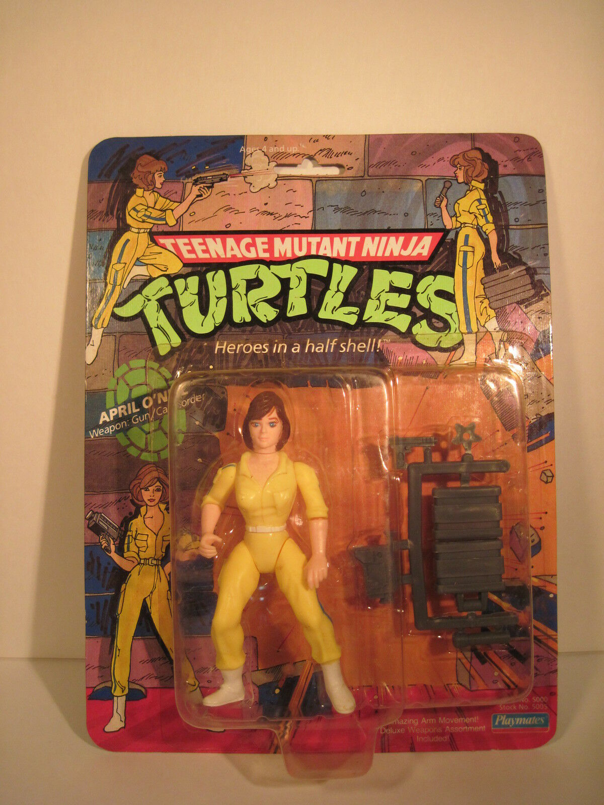 TEENAGE MUTANT NINJA TURTLES APRIL ONEIL blu STRIPE 1988 PLAYMATES