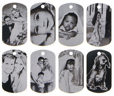 """CUSTOM MADE PERSONALIZED PHOTO LASER DOG TAG PICTURE PENDANT w/ 24"""" BALL CHAIN"""
