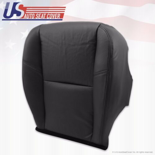 2012 Chevy Avalanche LTZ Driver Side Bottom PERFORATED Leather Seat Cover Gray