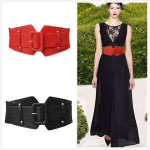 Womens Love Heart Buckle Elastic High Waist Dress Belt Cinch Wide Waistband UK