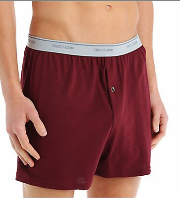 NEW FRUIT OF THE LOOM MEN'S 6 PACK KNIT BOXER SHORTS IN FAMOUS BRAND PACKS S-3X