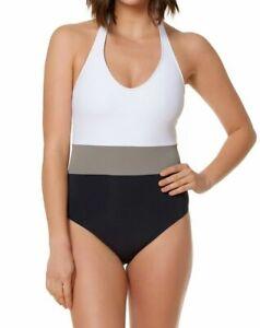 Bleu-Rod-Beattie-Colorblocked-Halter-One-Piece-Swimsuit-Size-4-MSRP-119
