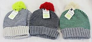 b805dd9f58ea NEW Gertex Knit Pom-Pom Winter Hat Lot of 3 Kids Children s Size 4-6 ...