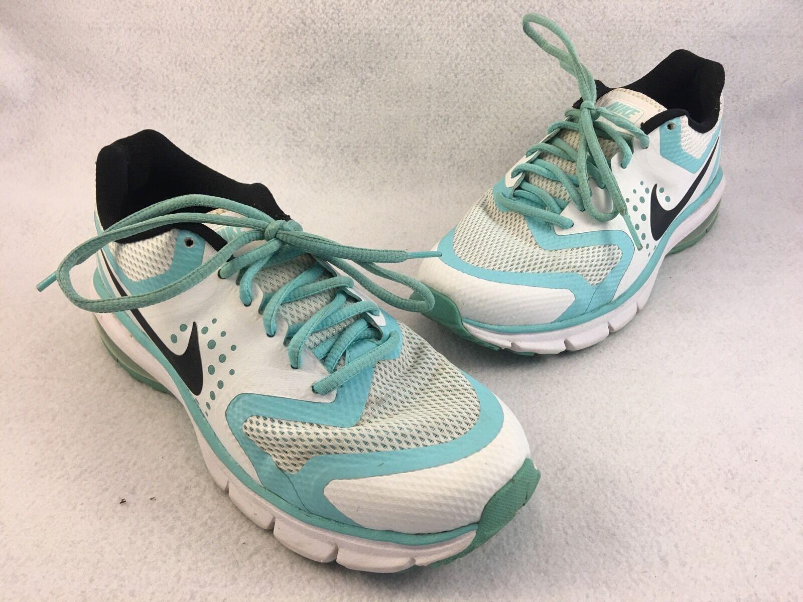 Nike Air Max Premier Run Running Shoes White Light Aqua Womens Sz 7.5 - 789574