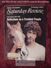 Saturday Review February 5 1977 ISRAEL JOURNAL JEWS TERENCE SMITH
