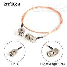 Cgpro Ultra Delgada En Ángulo Recto De Bnc A Bnc Hd-sdi 3g-sdi Cable (2ft/60cm) Uk!