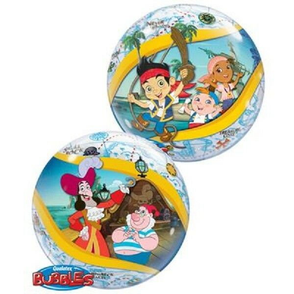 """*JAKE AND THE NEVERLAND PIRATES*  22"""" Birthday Bubble Balloon!"""