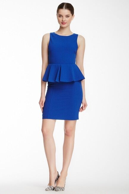 As Seen On Nicole Lapin. Alice & Olivia June June June Pleated Peplum Dress US size 0 a6ec54
