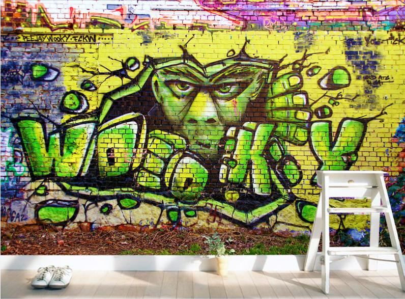 3D Funny Graffiti 863 Wall Paper Murals Wall Print Wall Wallpaper Mural AU Kyra