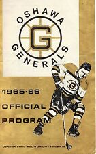 Bobby Orr 1965-66 Oshawa Generals Program  VG Boston Bruins V Peterborough T.PT.