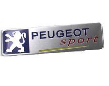 PEUGEOT 3D ABS Emblems Badge Stickers Sport Aluminum Emblem Badge Yellow Line UK