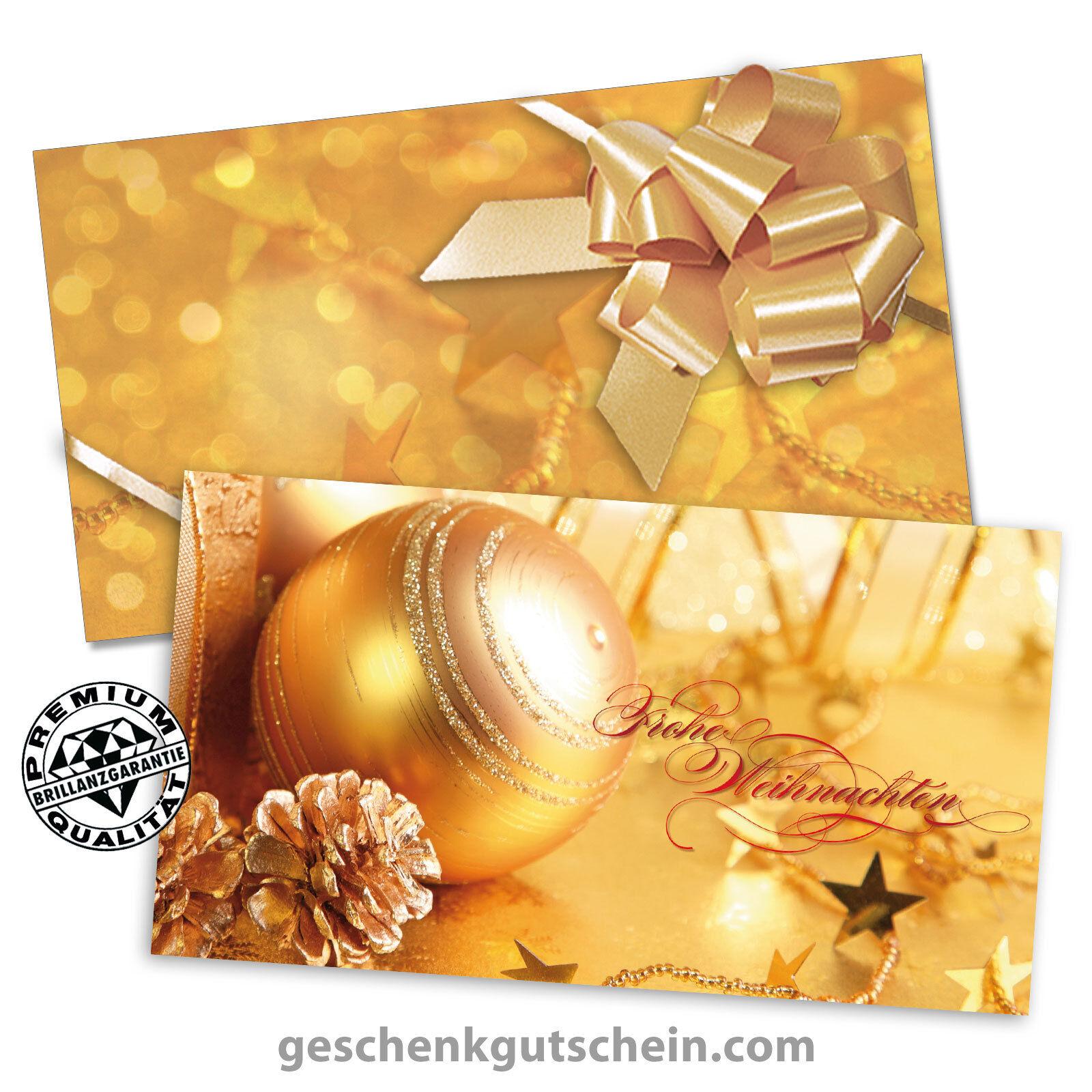 Weihnachts-Gechenkgutscheine mit mit mit KuGrüns und Schleifen für alle Branchen X1213  | Erste Klasse in seiner Klasse  | Üppiges Design  4a4084