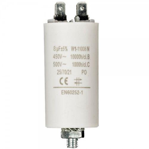 450V W1 AMP Ø 35x65 mm Kondensator Motorkondensator Anlaufkondensator 8 µF