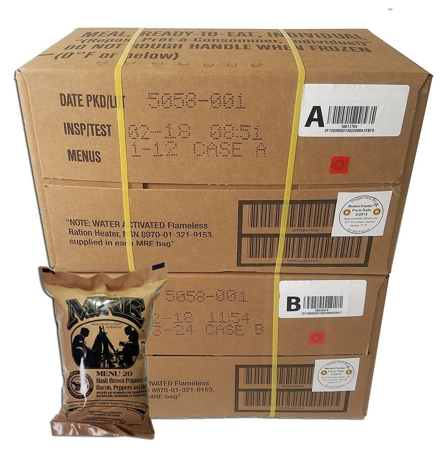 2018  ULTIMATE MRE Case A and Case B Bundle 24 Meals with 2018 Inspection Date...  10 days return