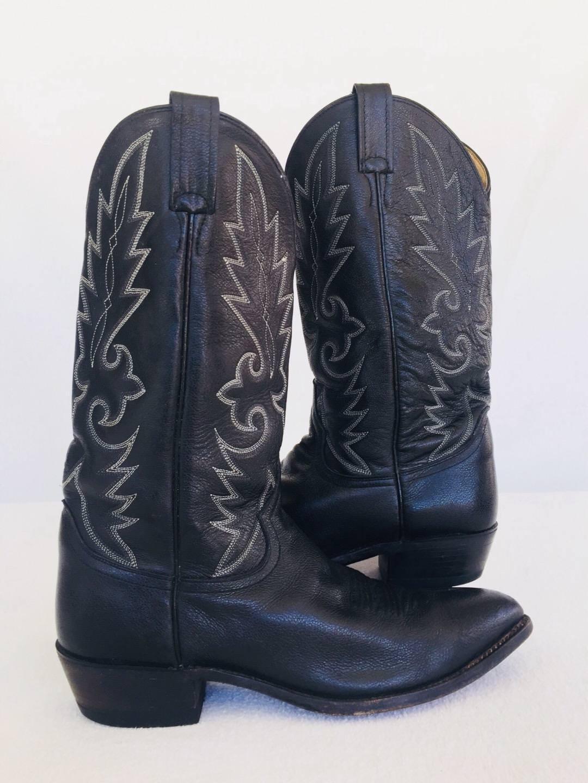 Dan Post Men's Black LEATHER Milwaukee R Toe Western Boots DP2110R SZ 10 D
