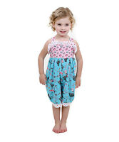 Jelly The Pug Pink & Sky Blue Paris Gabby Romper Size 6 To 12 Months