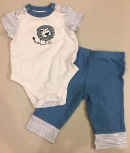 18a399047 OFFSPRING~Infant Baby Boy 6M~2PC Lion Set~Bodysuit   Pants Outfit ...