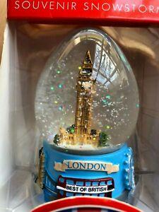 Big Ben London Souvenir Snowglobe Snowstorm