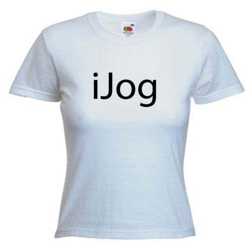 Jogging running slogan Mesdames LADY FIT T SHIRT TAILLE 6-16