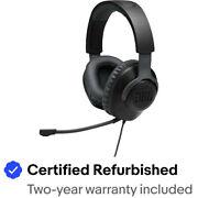 JBL JBLQUANTUM100BAM-Z Quantum 100 Wired Gaming Headset, Black - Refurbished