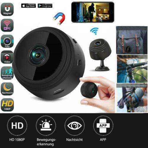 Mini IP Kamera FHD 1080P Wifi Cam Video Farbe Nachtsicht Überwachungskamera