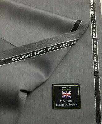 John Foster Gris Super 150/'s Lana /& cachemira Traje De Tela. 210g