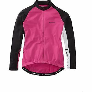 Madison Keirin Women's Long Sleeve Thermal Jersey, Very Berry Size 14 pink