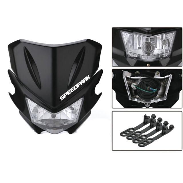 Universal Motorcycle Fairing Headlight Hi/Lo Beam Light Street Fighter DirtUTRU