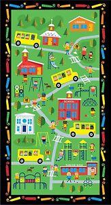 School-Teacher-Bus-Kids-Cotton-Fabric-Timeless-Treasures-C4364-24-034-X44-034-PANEL