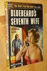 WILLIAM-IRISH-Bluebeard-039-s-Seventh-Wife-1952-1st-printing-pb-Cornell-Woolrich