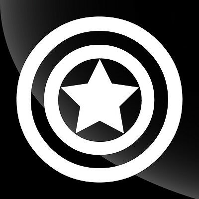 Captain America Decal Sticker - TONS OF OPTIONS