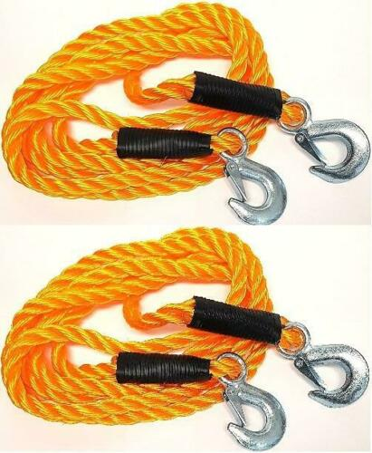 2x Abschleppseil 5000kg Seil 3,5m Pannenhilfe Auto Zugseil LKW KFZ 9,15€//ST