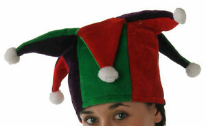 4de5b391fc9 Image is loading Jester-Hat-Tall-with-Multi-Points-Red-Green-