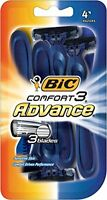 3 Pack - Bic Comfort 3 Advance Shavers For Men 4 Each