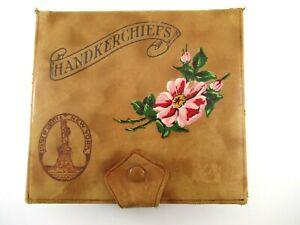 Leather-Handkerchief-Souvenir-Box-RARE-VINTAGE-Statue-Of-Liberty-New-York-Unique