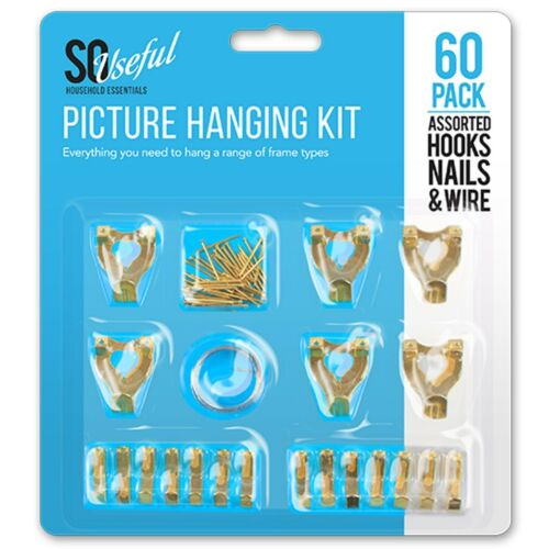 PICTURE//PAINTING HANGING KIT Canvas Mirror Photo Frame Wall Fixing Mounting Hook