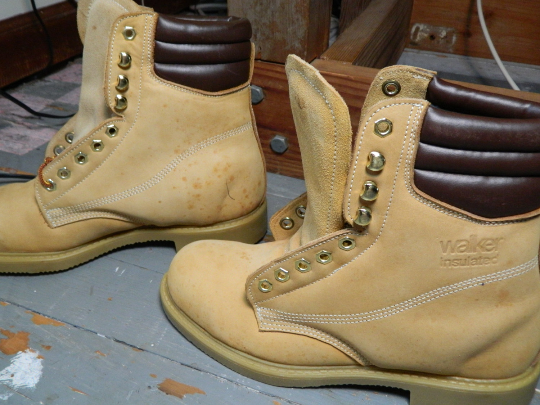 90's Walker Insulated Work Boots Steel Toe Stock  683 Made in USA Size 8.5