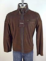 Cole Haan Brown Rugged Genuine Lambskin Shearling Lined Jacket