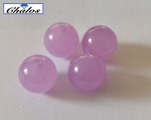 1280 ball Cabochon behandelt 14,0mm 1x Pink Jade